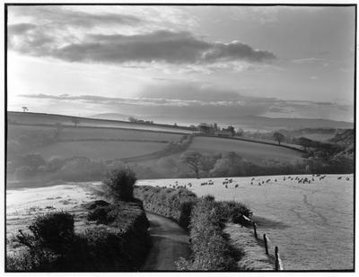 View towards Iddesleigh & Dartmoor, Devon, England, c1985