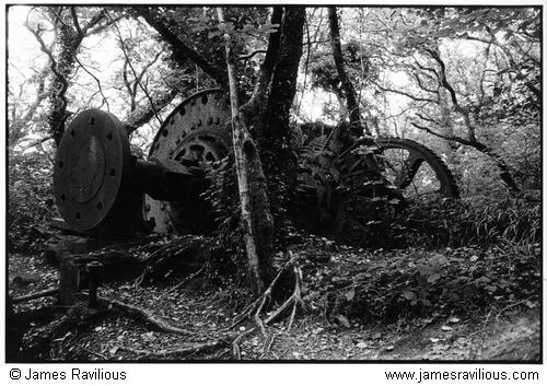 Old mill machinery, Luxulyan, Cornwall, England, c1985