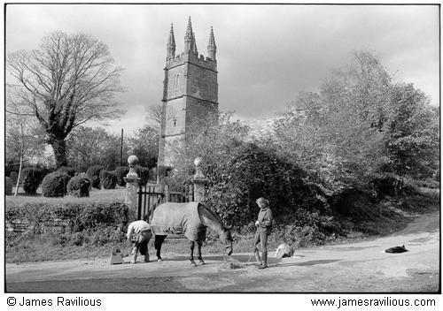 Farrier shoing a horse, Bradstone, Devon, England, 1999