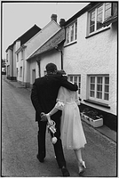 Couple after their wedding, Dolton, Devon, England, 1983